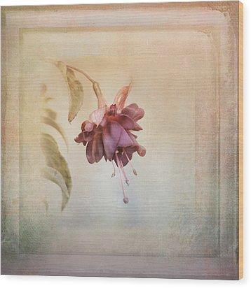 Beauty Fades Softly Framed Wood Print