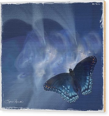 Beauty In Blue Wood Print by Sylvia Thornton