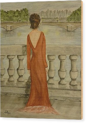 Wood Print featuring the painting Beauty In Paris by Kelly Mills