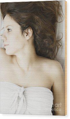 Beauty In White Wood Print by Margie Hurwich