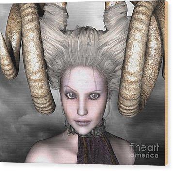 Wood Print featuring the digital art Beauty Is The Beast by Sandra Bauser Digital Art