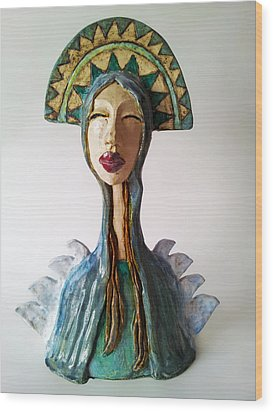 Beauty Of A Mother Wood Print by Agnieszka Parys-Kozak