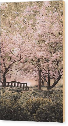 Beauty Of A Spring Garden Wood Print by Julie Palencia
