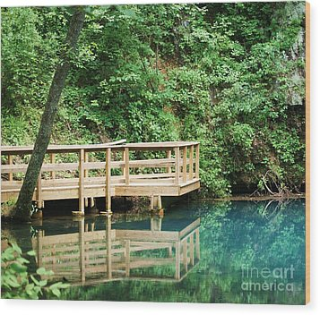 Wood Print featuring the photograph Beauty Of Blue Spring by Julie Clements