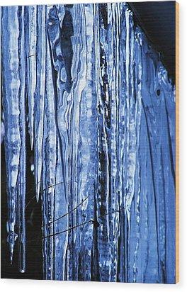 Beauty Of Ice Wood Print