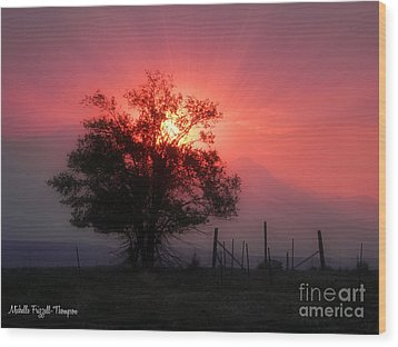 Beauty Of Sunset Wood Print by Michelle Frizzell-Thompson