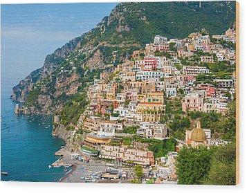 Beauty Of The Positano Wood Print