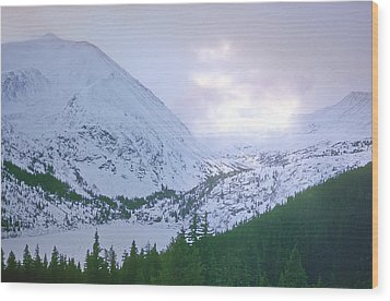 Beauty Of The Rockies Wood Print by Kellice Swaggerty