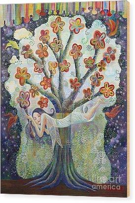 Beauty Of Tree Wood Print by Manami Lingerfelt