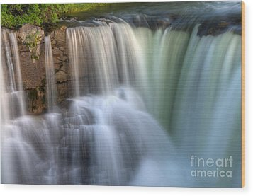 Beauty Of Water Wood Print by Bob Christopher