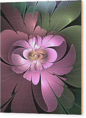 Wood Print featuring the digital art Beauty Queen Of Flowers by Svetlana Nikolova