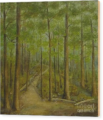 Beaver Pond Trail Wood Print