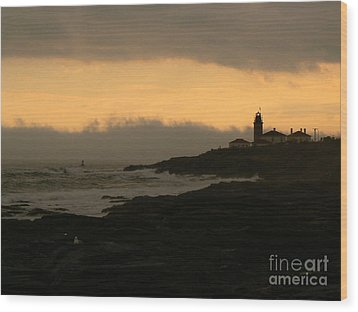 Beavertail-after The Storm Wood Print by Butch Lombardi