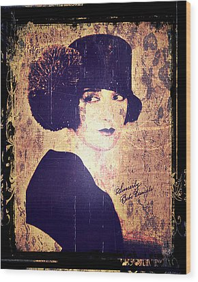 Bebe Daniels - 1920s Actress Wood Print by Absinthe Art By Michelle LeAnn Scott
