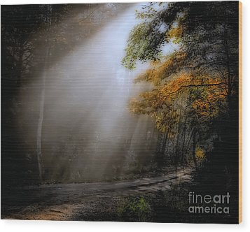 Wood Print featuring the photograph Beckoning by Brenda Bostic