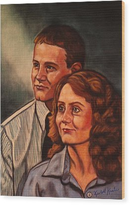 Becky And Ron Yearout Wood Print by Kendall Kessler