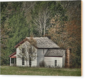 Becky Cable House Wood Print by TnBackroadsPhotos