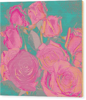 Wood Print featuring the photograph Bed Of Roses I by Shirley Moravec