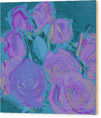 Wood Print featuring the photograph Bed Of Roses II by Shirley Moravec