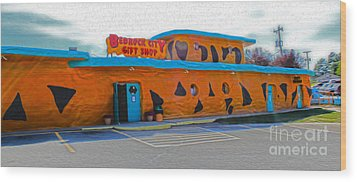 Bedrock City - Gift Shop Wood Print by Gregory Dyer