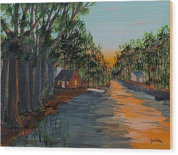 Bedtime Shadows Wood Print by Jack G  Brauer
