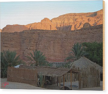 Beduin Camp In The Sinai Desert Egypt Wood Print by Colette V Hera  Guggenheim