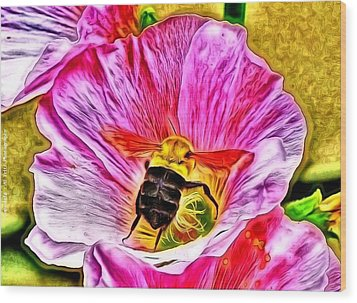 Wood Print featuring the photograph Bee Here In Colour by Al Fritz