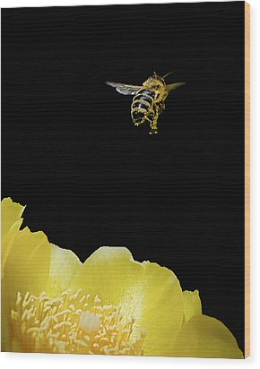 Bee Rising #2 Wood Print
