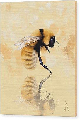 Bee Wood Print by Veronica Minozzi
