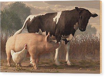 Beef Pork And Poultry  Wood Print by Daniel Eskridge