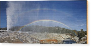 Beehive's Double  Rainbow Wood Print