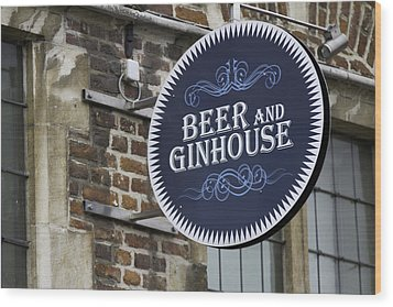 Beer And Ginhouse Wood Print by David Freuthal