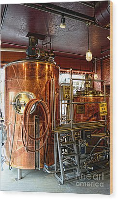 Beer - The Brew Kettle Wood Print by Paul Ward