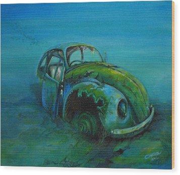 Beetle Forever Wood Print by Ottilia Zakany