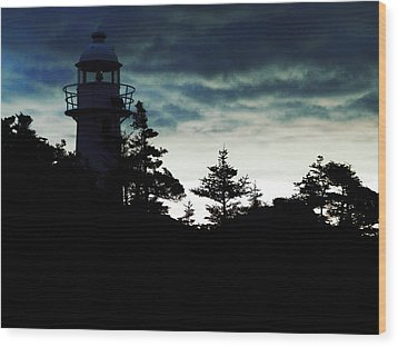 Before Sunrise Wood Print by Zinvolle Art