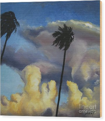 Before Sunset Wood Print by Jindra Noewi