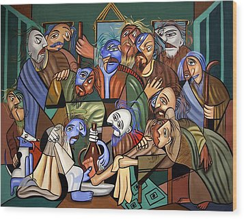 Before The Last Supper Wood Print by Anthony Falbo