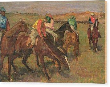 Before The Races Wood Print by Edgar Degas
