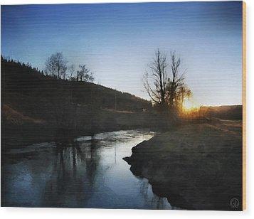 Before The Snow Wood Print by Gun Legler