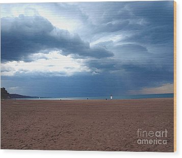 Wood Print featuring the photograph Before The Storm by Susan  Dimitrakopoulos