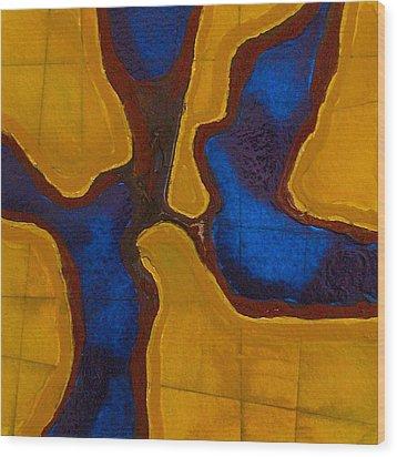 Before The Wind Wood Print by Sandra Gail Teichmann-Hillesheim