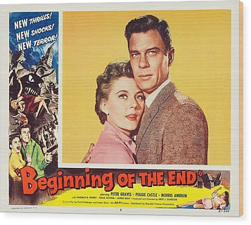 Beginning Of The End 1957 Wood Print by Mountain Dreams