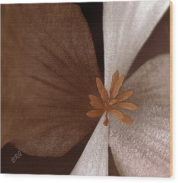 Begonia Wood Print by Ben and Raisa Gertsberg