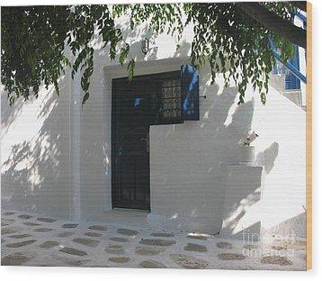 Behind A Blue Door 2 Wood Print by Mel Steinhauer