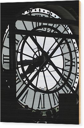 Behind The Clock II Wood Print