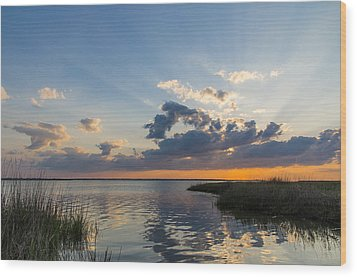 Behind The Clouds Wood Print by Gregg Southard