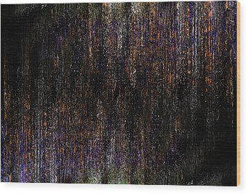 Behind The Curtain Wood Print by Christopher Gaston