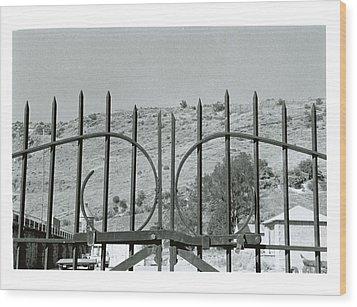 Behind The Gate Wood Print