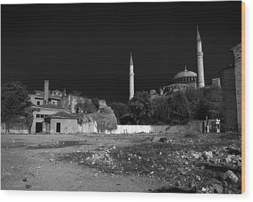Wood Print featuring the photograph Behind The Hagia Sophia by Ross Henton