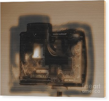 Behind The Lens  Wood Print by Steven Digman